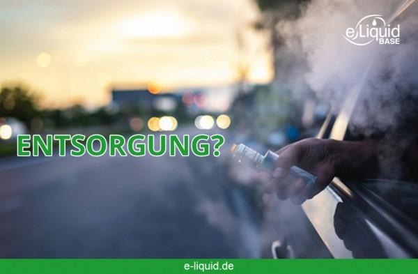 Entsorgung-E-zigarette-e-liquid-base